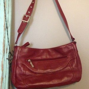 Stone Mountain Red Leather Hobo Purse